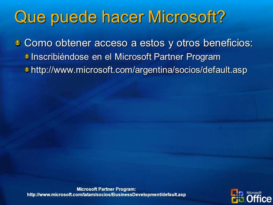 Que puede hacer Microsoft.