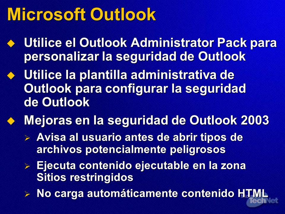 Microsoft Outlook Utilice el Outlook Administrator Pack para personalizar la seguridad de Outlook Utilice el Outlook Administrator Pack para personali