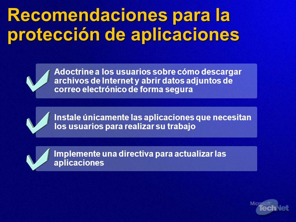 Recomendaciones para la protección de aplicaciones Adoctrine a los usuarios sobre cómo descargar archivos de Internet y abrir datos adjuntos de correo