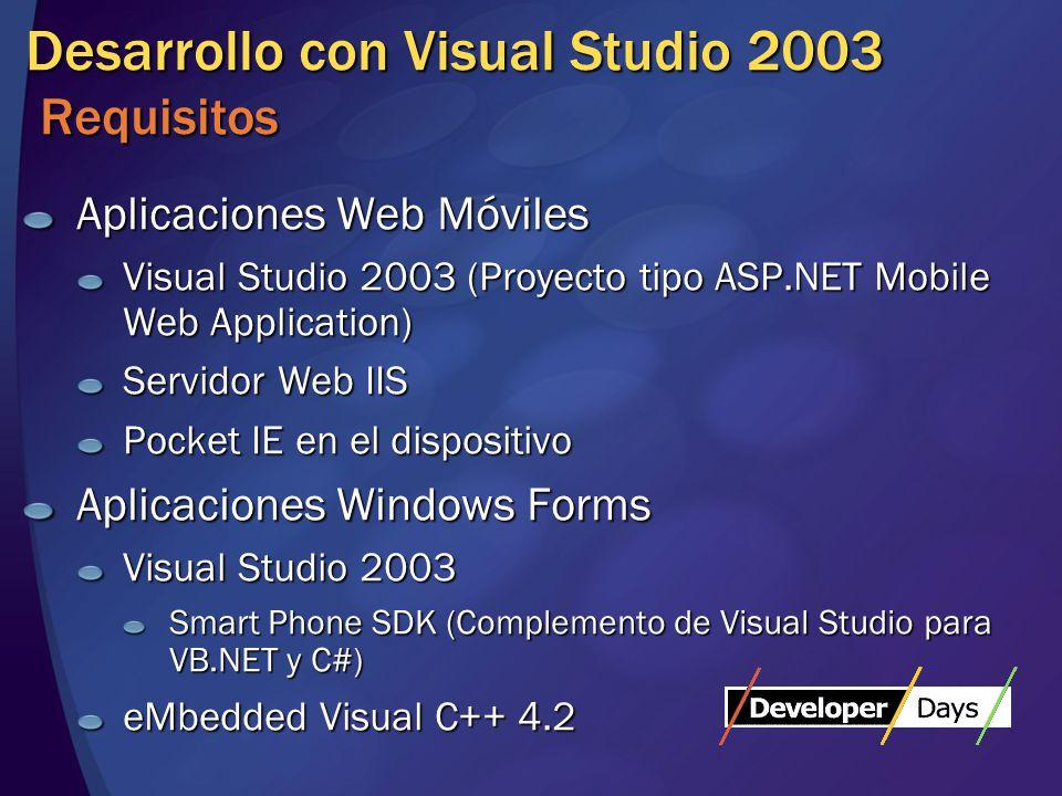 Aplicaciones ASP.NET Características Contenido adaptable al dispositivo HTML, WAP, … Se puede detectar el dispositivo y adaptar el contenido manualmente P.e.