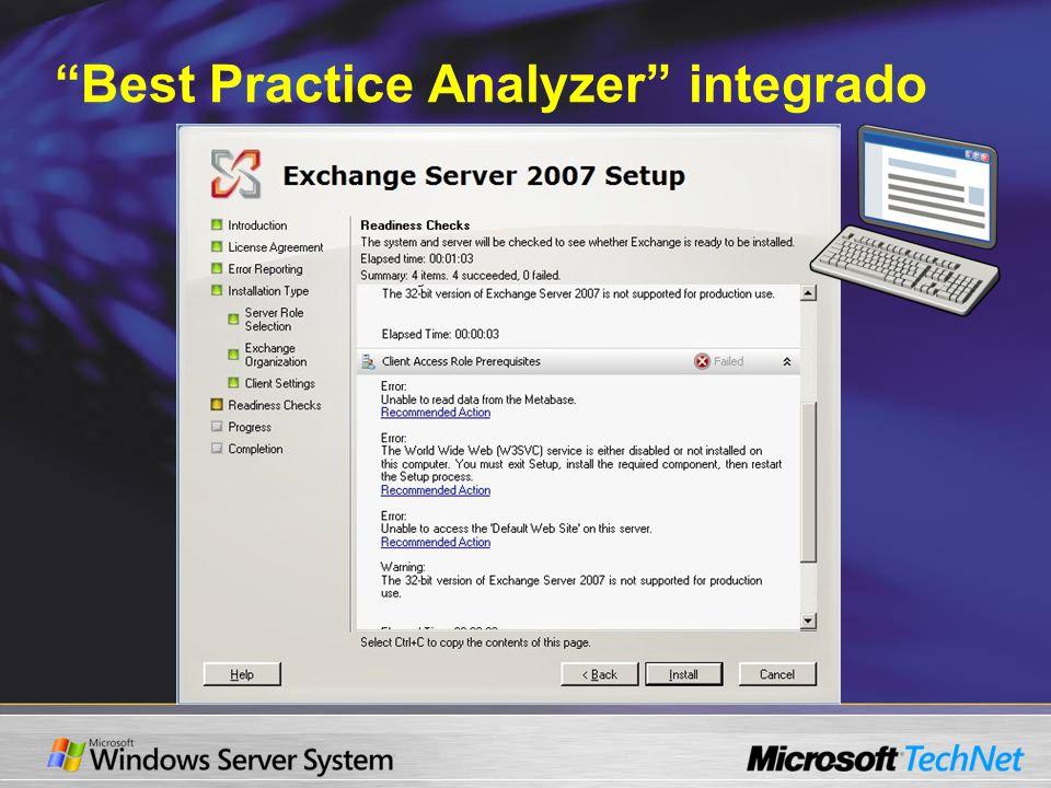 Best Practice Analyzer integrado