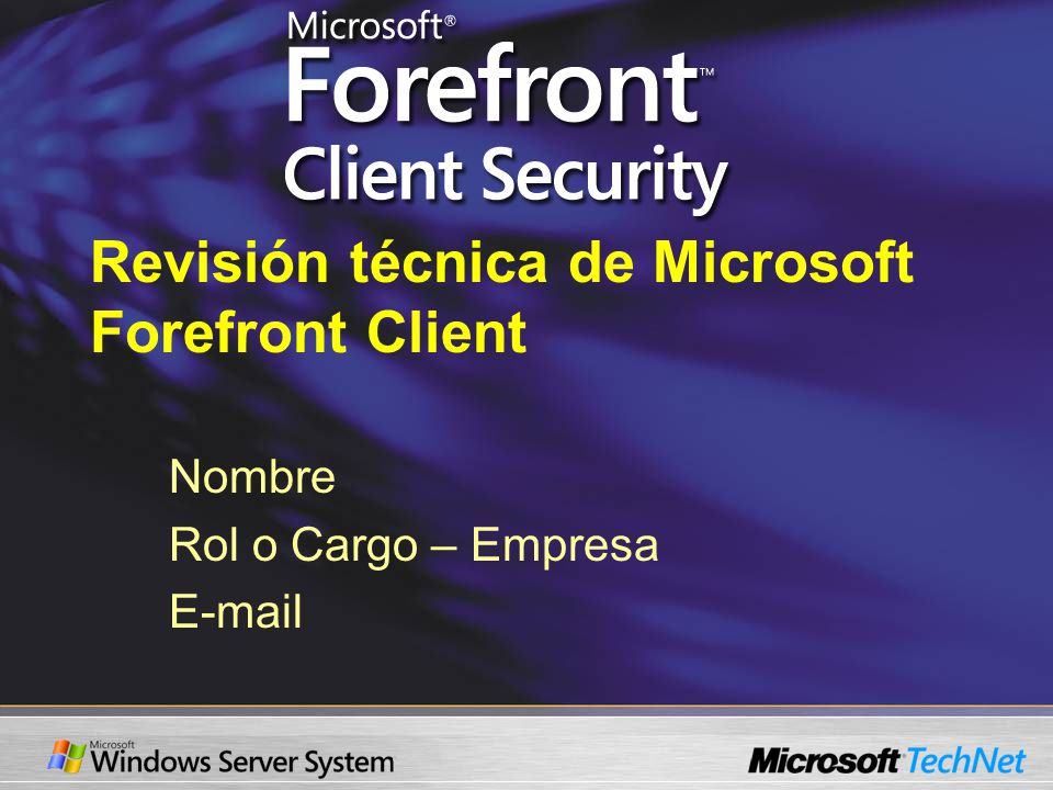 Requisitos Previos de FCS SQL 2005 SQL 2005 Reporting Windows Software Update Services Group Policy Management Console.NET Framework 2.0 MMC 3.0 IIS 6.0 Clients running Windows 2000, XP, Server 2003, Vista Installed with FCS Microsoft Operations Manager 2005 SP1 Microsoft Operations Manager Reporting