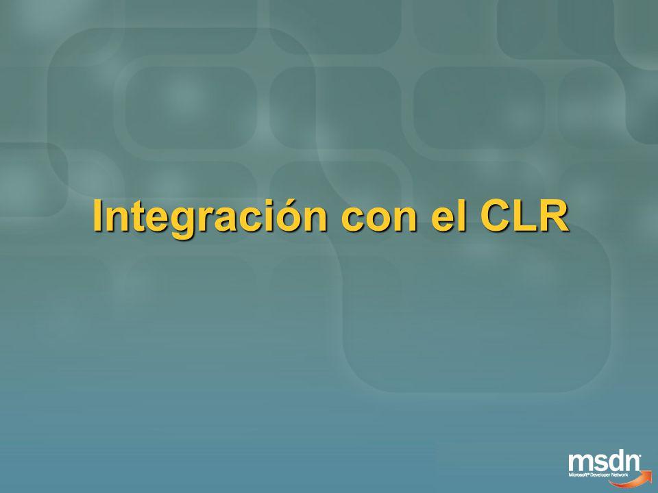 Integración con el CLR