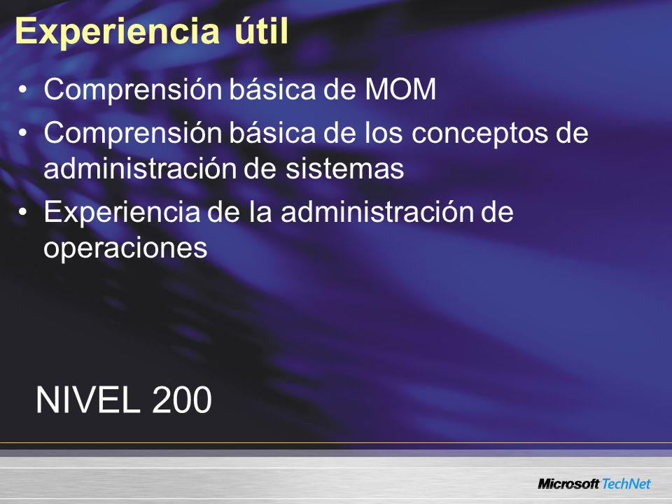 Para mayores informes www.microsoft.com/technet/MGT-22 Visite TechNet en www.microsoft.com/technet Visite el siguiente URL para obtener información adicional
