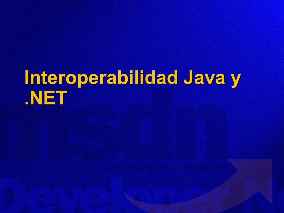 Interoperabilidad Java y.NET