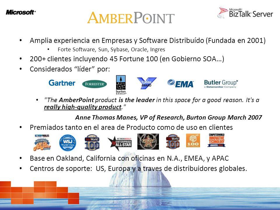 Amplia experiencia en Empresas y Software Distribuído (Fundada en 2001) Forte Software, Sun, Sybase, Oracle, Ingres 200+ clientes incluyendo 45 Fortun