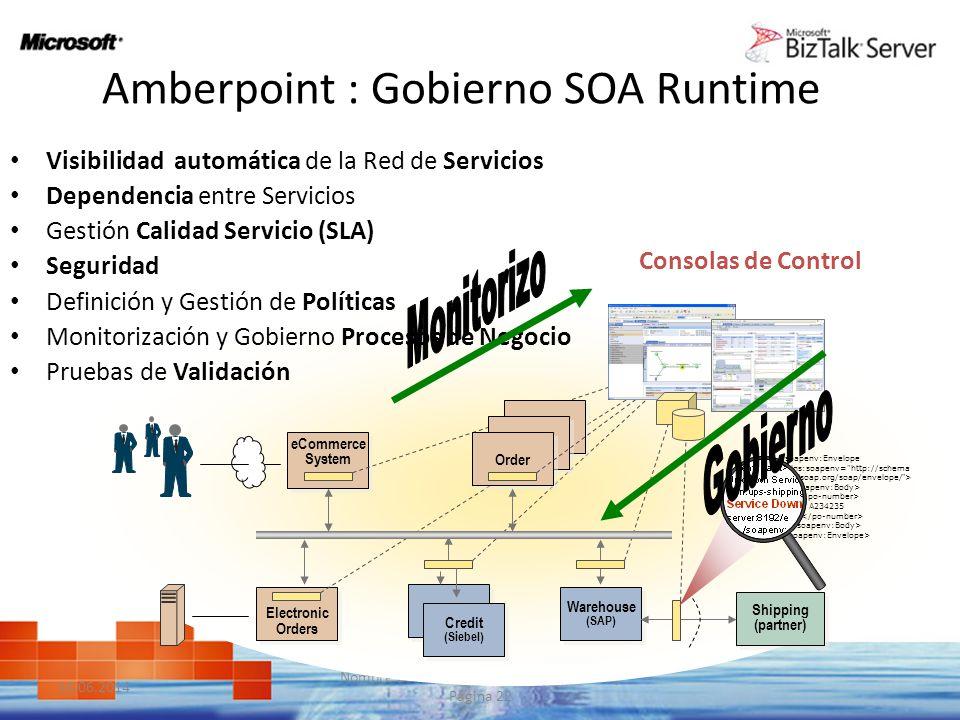 10.06.2014 Nombre de la Presestación | | Página 22 A234235 Amberpoint : Gobierno SOA Runtime Visibilidad automática de la Red de Servicios Dependencia