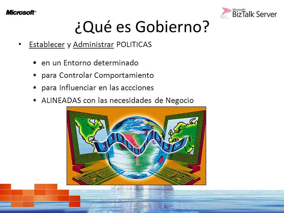 ¿Qué es Gobierno? Establecer y Administrar POLITICAS en un Entorno determinado para Controlar Comportamiento para Influenciar en las accciones ALINEAD