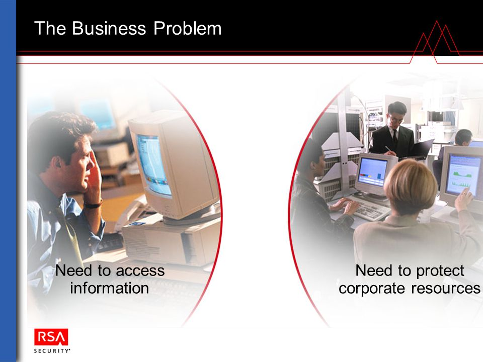 Need to access information Need to protect corporate resources The Business Problem