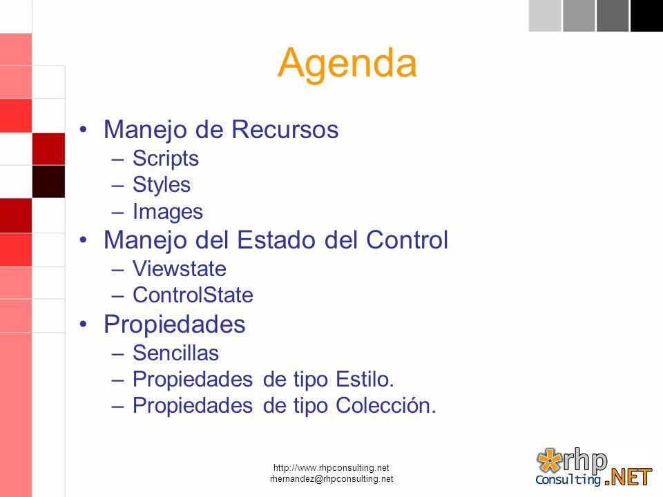 http://www.rhpconsulting.net rhernandez@rhpconsulting.net Recursos El manejo de recursos utilizando.NET Framework 2.0 y VS.NET 2005.