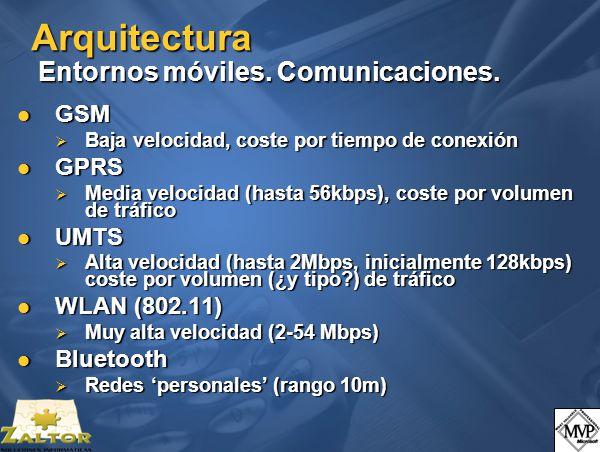 Arquitectura Entornos móviles. Comunicaciones.