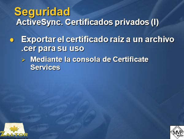 Seguridad ActiveSync.