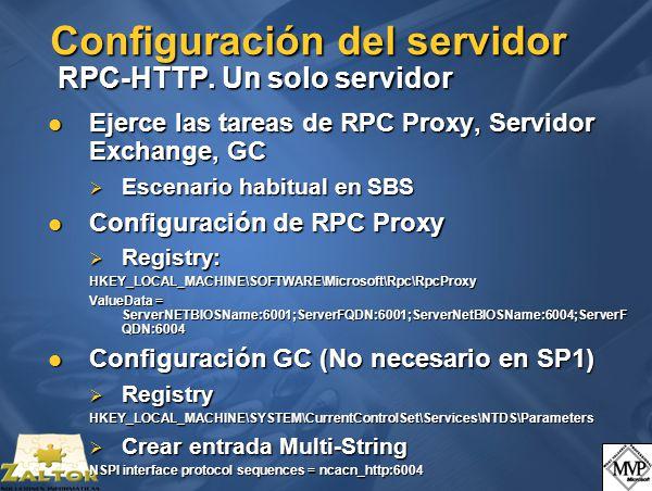 Configuración del servidor RPC-HTTP.