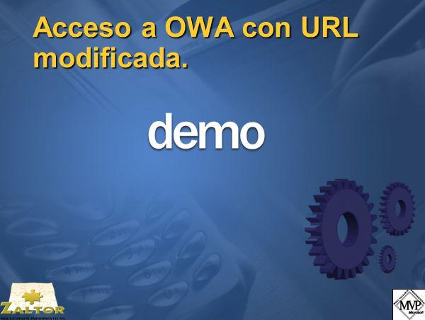 Acceso a OWA con URL modificada.