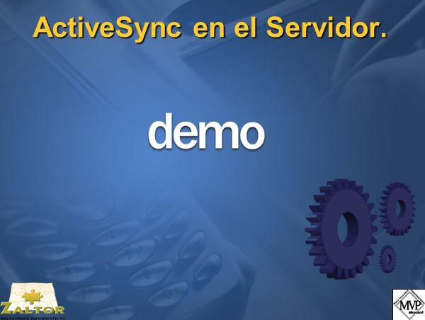 ActiveSync en el Servidor.