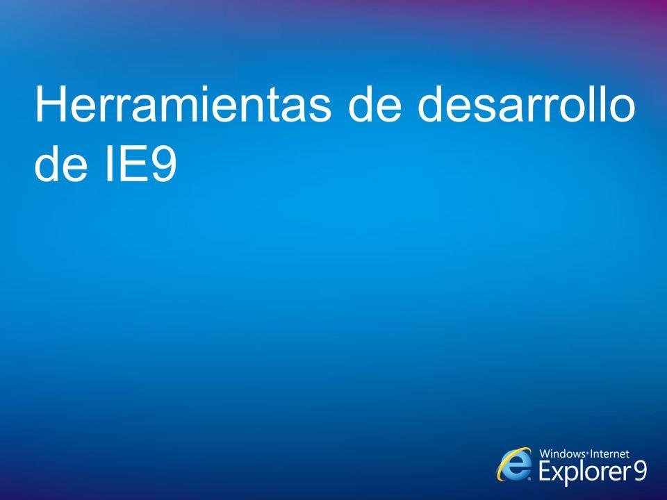 Herramientas de desarrollo de IE9
