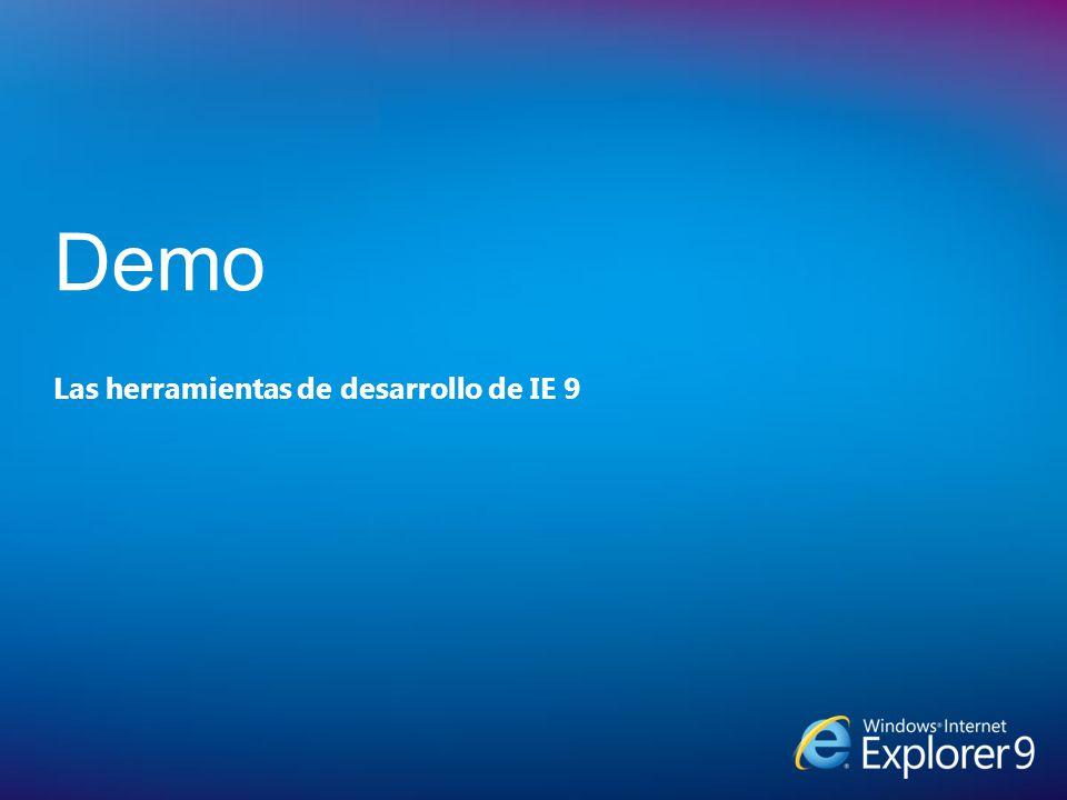 Las herramientas de desarrollo de IE 9 Demo