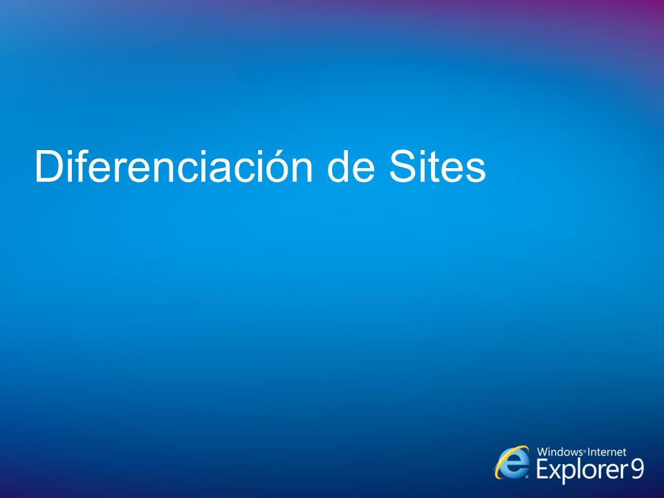 Diferenciación de Sites