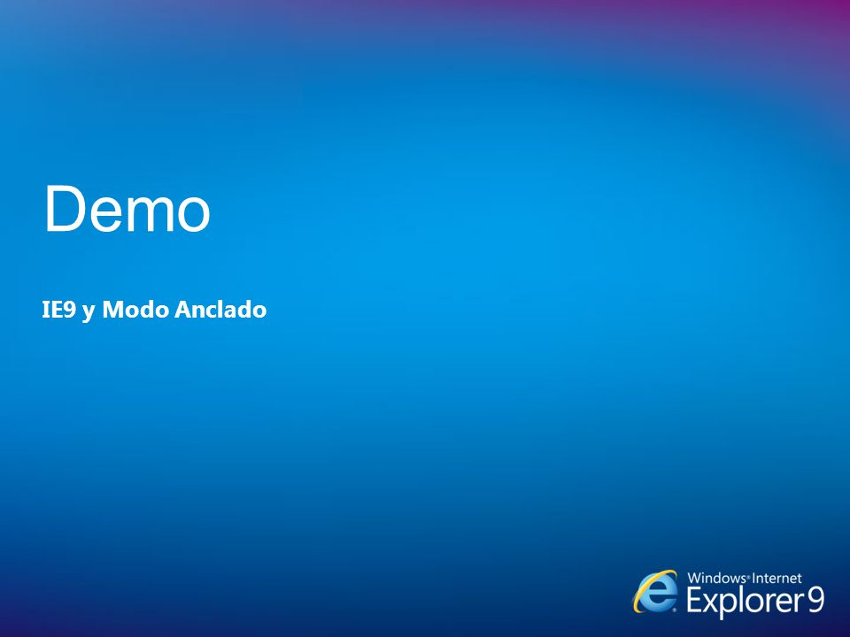 IE9 y Modo Anclado Demo