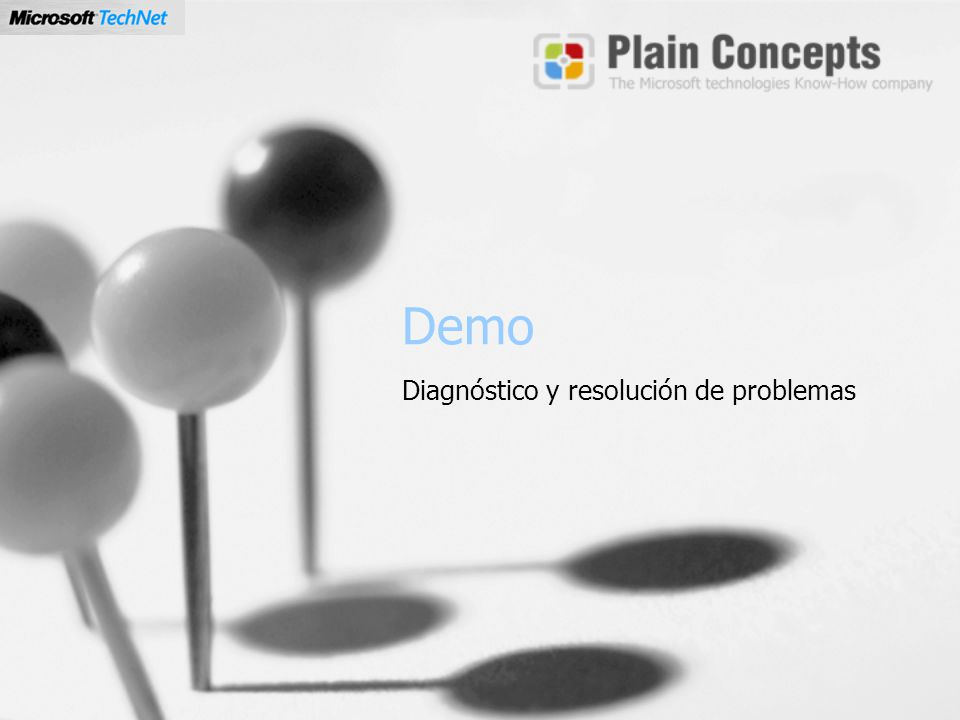 Demo Diagnóstico y resolución de problemas