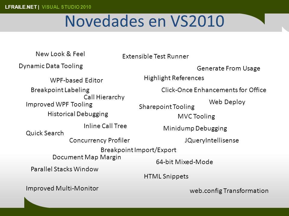 LFRAILE.NET   VISUAL STUDIO 2010 ¿Y XSLT? NewSetting New Setting Value