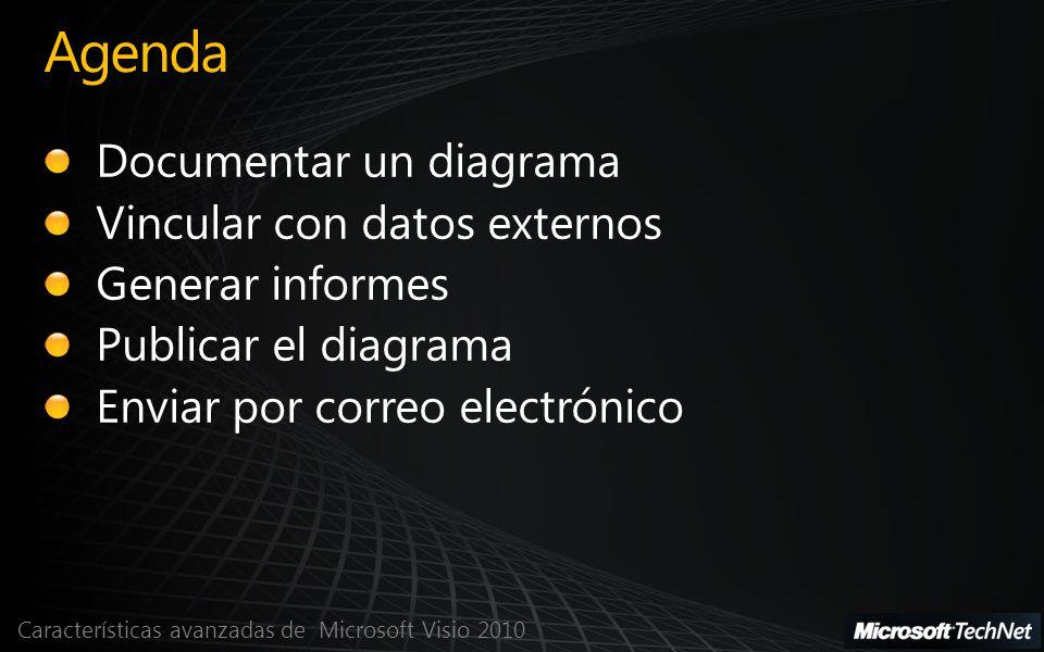 Características avanzadas de Microsoft Visio 2010 Agenda