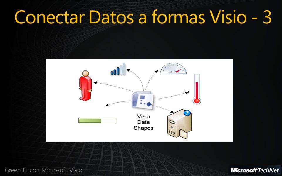 Green IT con Microsoft Visio Conectar Datos a formas Visio - 3