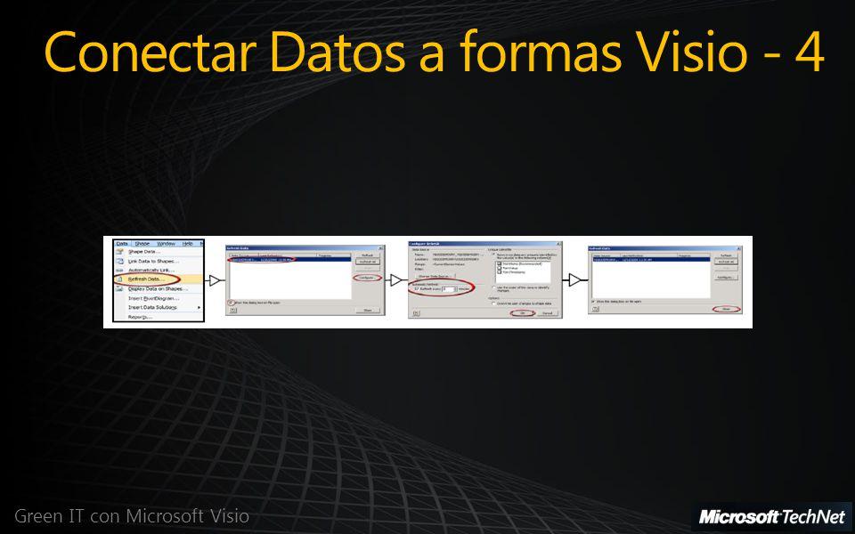 Green IT con Microsoft Visio Conectar Datos a formas Visio - 4