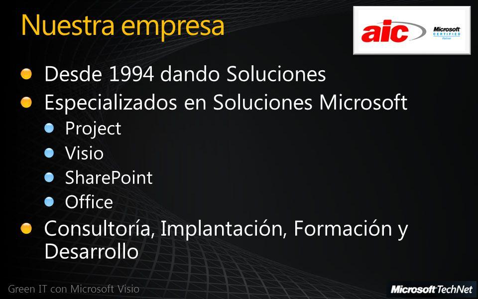 Nuestra empresa Green IT con Microsoft Visio