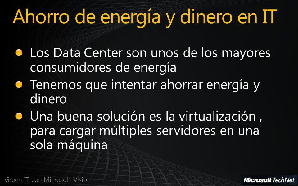Ahorro de energía y dinero en IT Green IT con Microsoft Visio