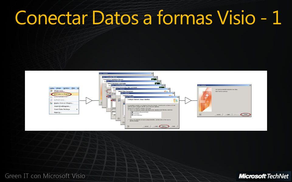 Conectar Datos a formas Visio - 1 Green IT con Microsoft Visio