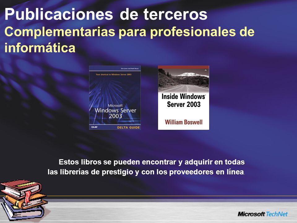 Estos libros se pueden encontrar y adquirir en todas las librerías de prestigio y con los proveedores en línea. Publicaciones de terceros Complementar