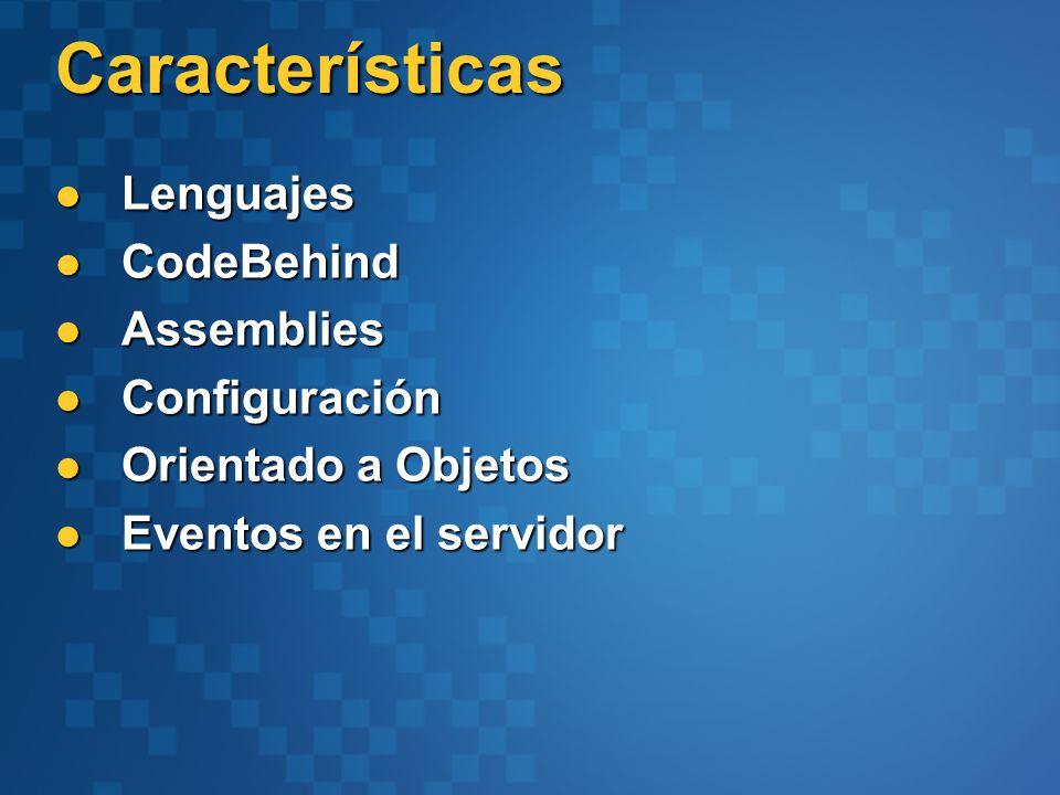 Navegación window.location window.location window.open() window.open() window.showModalDialog(), window.showModelessDialog() window.showModalDialog(), window.showModelessDialog() Response.Redirect() Response.Redirect() Server.Execute() Server.Execute() Server.Transfer() Server.Transfer() HTTPContext.Current.Items HTTPContext.Current.Items