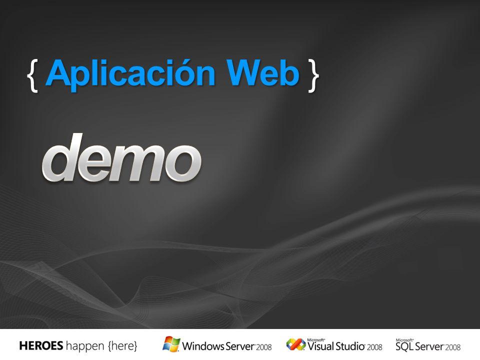 { Aplicación Web }