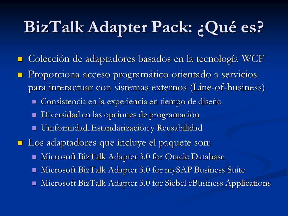 BizTalk Adapter Pack: ¿Qué es.