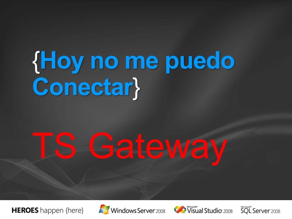{Hoy no me puedo Conectar} TS Gateway