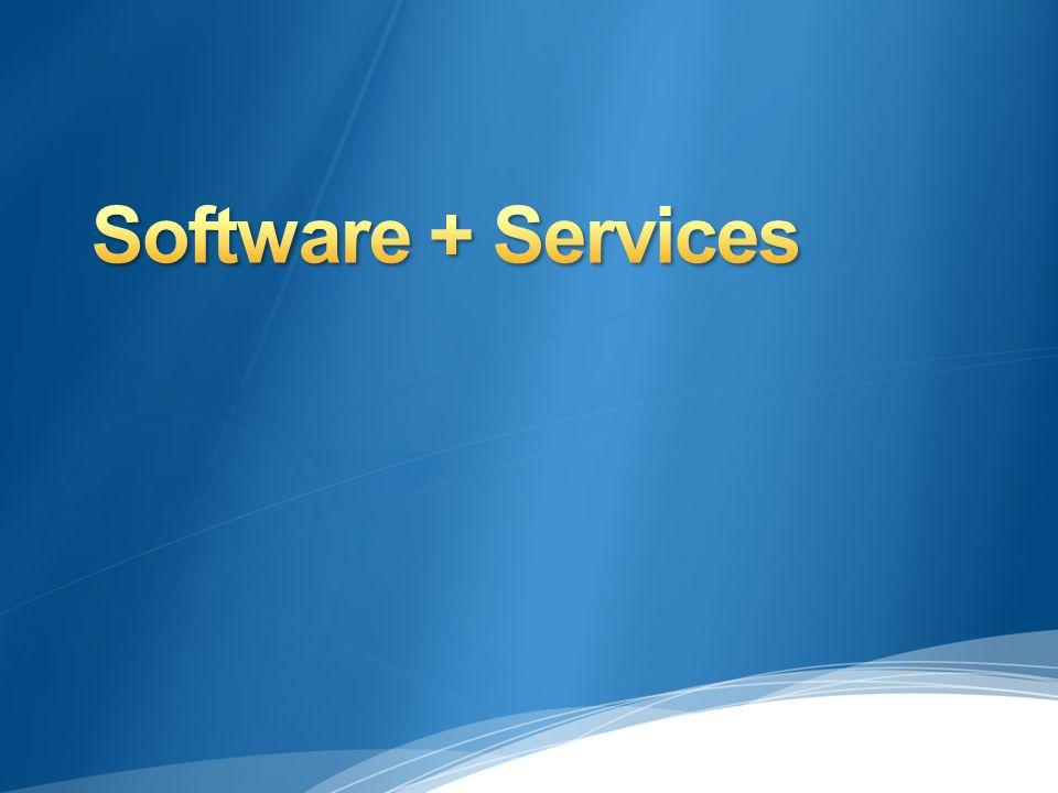 Las empresas hoy en día principalmente utilizan software que ellos mismos alojan Comunmente conocido como software on- premises Los servicios accedidos desde la nube, estan empezando a formar parte importante dentro de las empresas Las empresas se estan moviendo hacia un mundo mezclado de software + services (S+S) S+S = On-premises software + cloud services