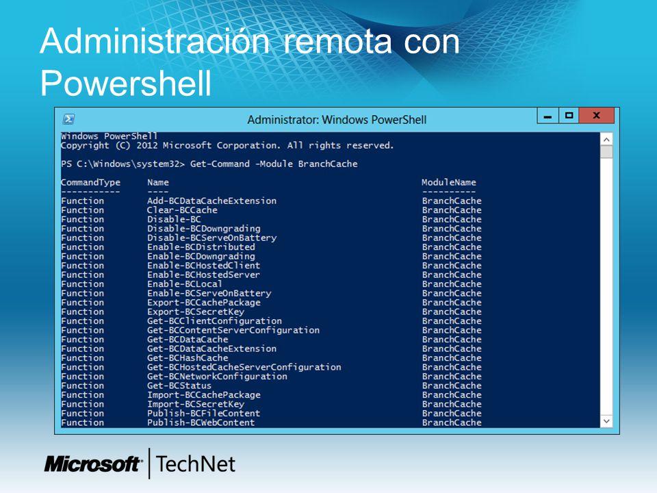 Administración remota con Powershell