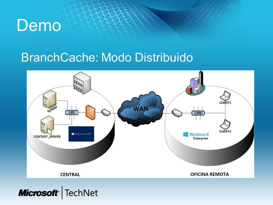 Demo BranchCache: Modo Distribuido
