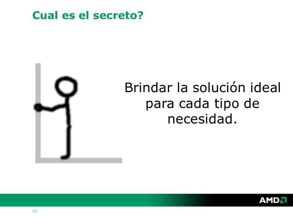 12 Cual es el secreto Brindar la solución ideal para cada tipo de necesidad.