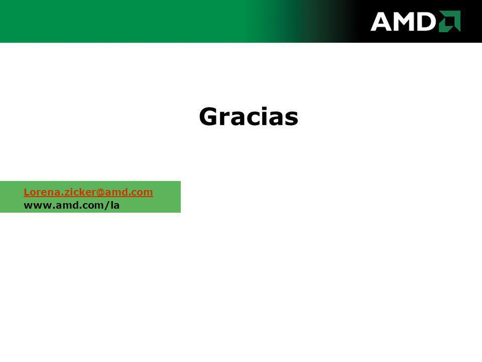 Gracias Lorena.zicker@amd.com www.amd.com/la