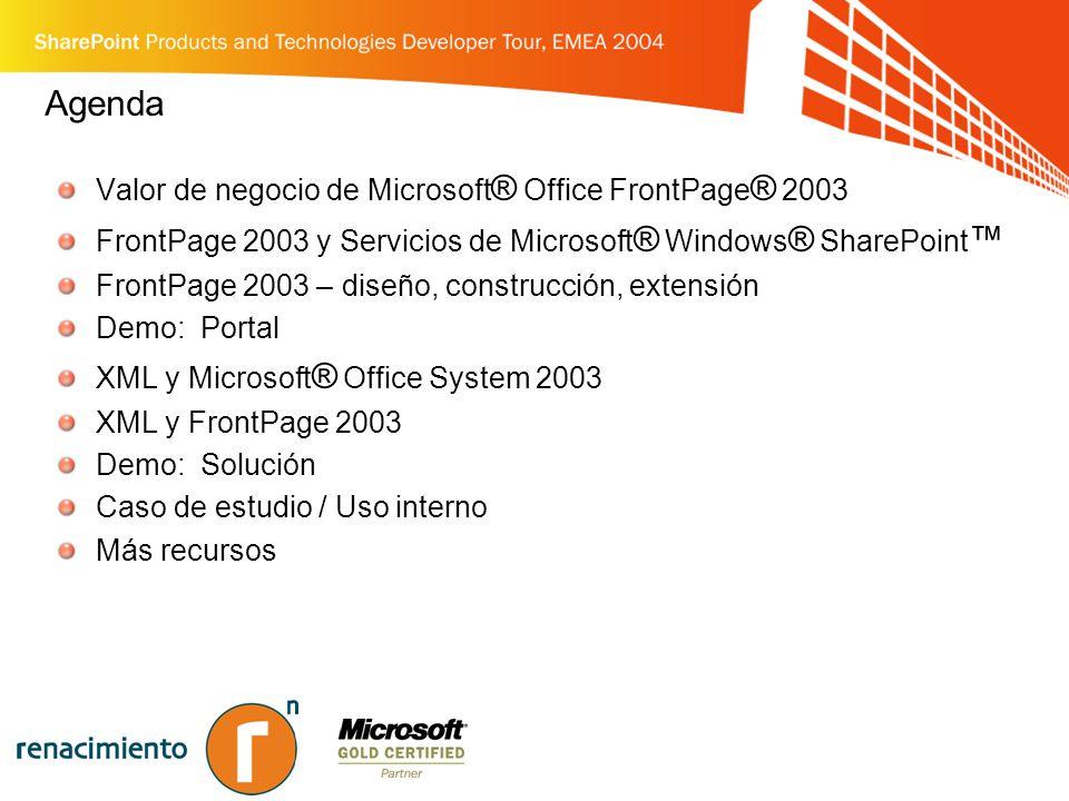 Microsoft® Office FrontPage® 2003 en acción
