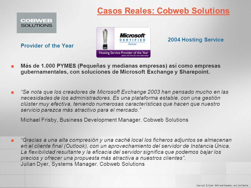 2004 Hosting Service Provider of the Year Más de 1.000 PYMES (Pequeñas y medianas empresas) así como empresas gubernamentales, con soluciones de Microsoft Exchange y Sharepoint.