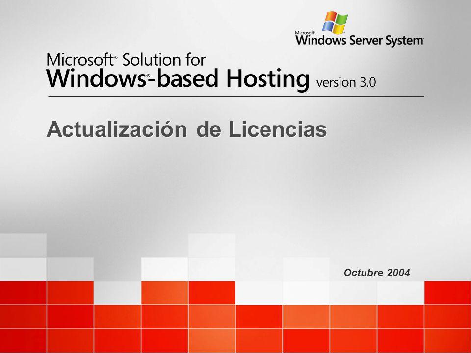 Octubre 2004 Actualización de Licencias