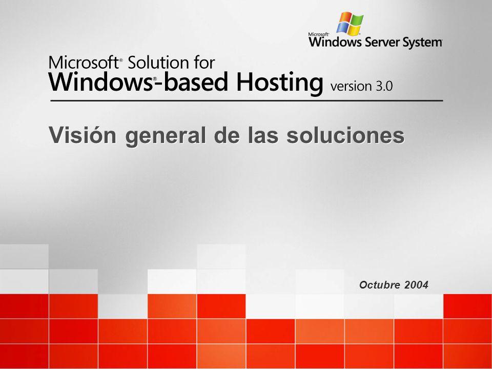 Octubre 2004 Visión general de las soluciones