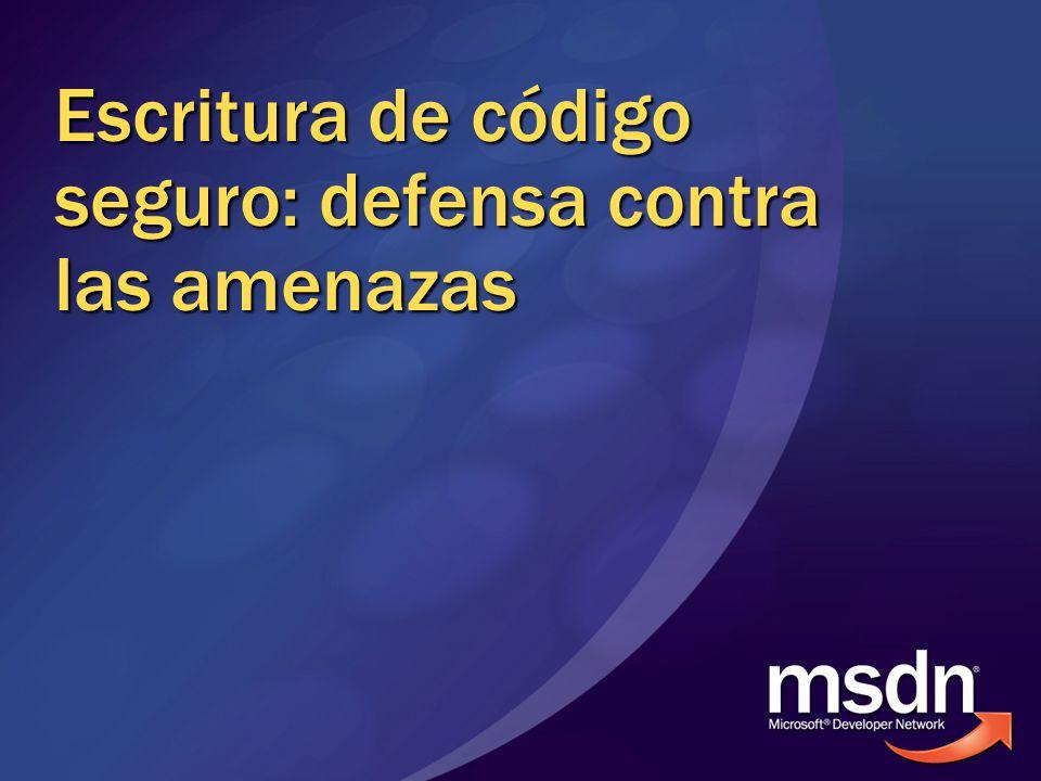 Escritura de código seguro: defensa contra las amenazas