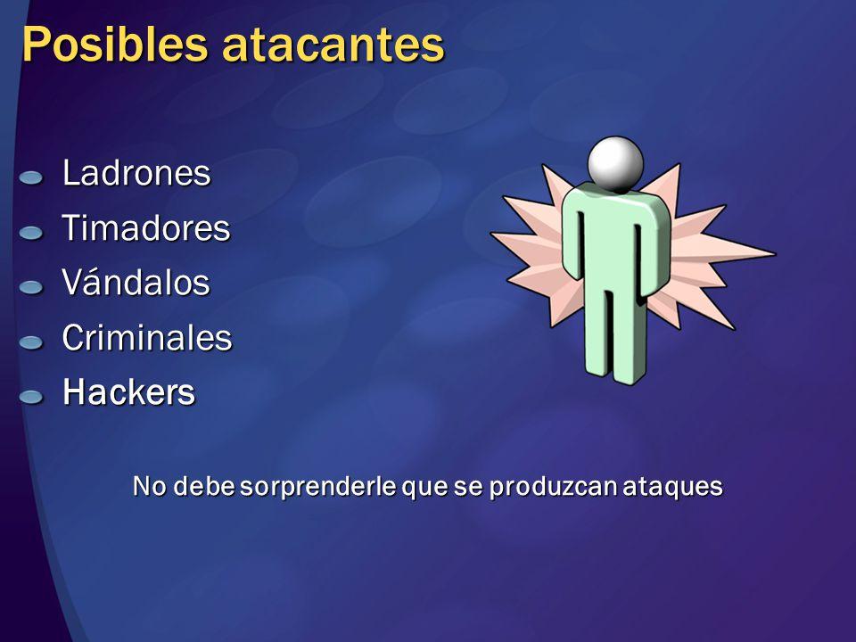 Posibles atacantes LadronesTimadoresVándalosCriminalesHackers No debe sorprenderle que se produzcan ataques