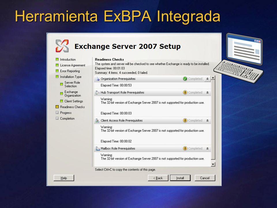 Herramienta ExBPA Integrada