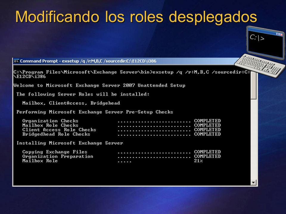 Modificando los roles desplegados