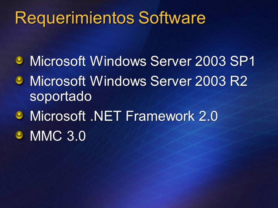 Requerimientos software específicos por role
